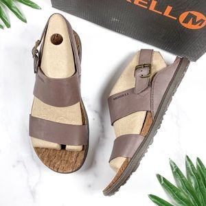 NIB Merrell Around Town Luxe Backstrap Sandals